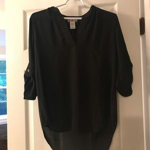 Black sheer blouse, size small
